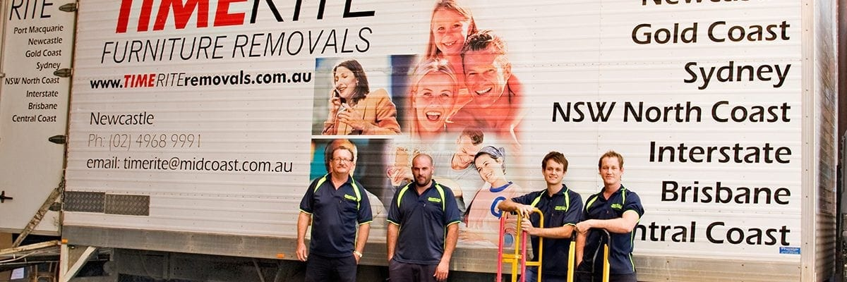 Timerite Removals Truck and Team